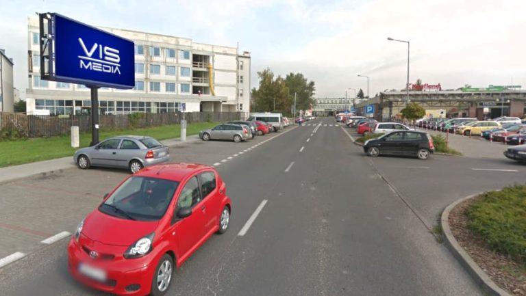 Telebim ulica Bauera we Włocławku, agencja reklamowa Vismedia