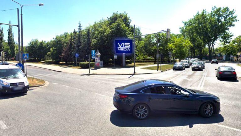 Telebim skrzyżowanie ulic Niepodległości Roosevelta w Inowrocławiu, agencja reklamowa Vismedia