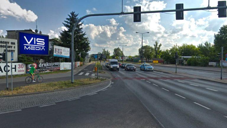 Telebim skrzyżowanie ulic Polna / Grudziądzka w Toruniu, agencja reklamowa Vismedia