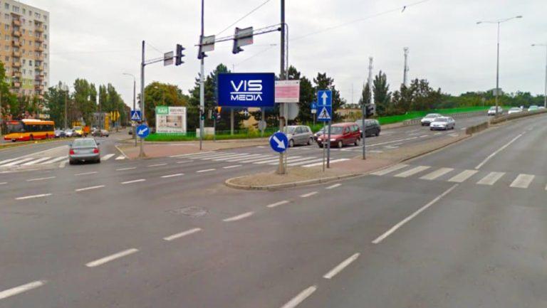 Telebim skrzyżowanie ulic Hallera, Dworcowej, generała Focha w Grudziądzu, agencja reklamowa Vismedia