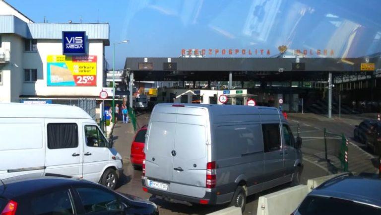 Telebim ulica przejście graniczne w Medyce, agencja reklamowa Vismedia