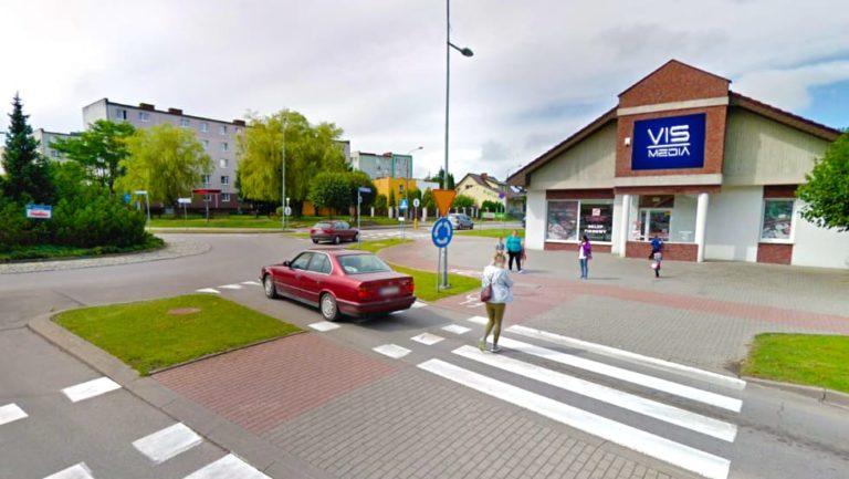 ulica Rondo NSZZ Solidarność w Kościerzynie, agencja reklamowa Vismedia